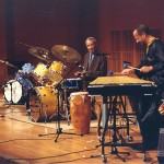 Max Roach with Jay Hoggard at the Wesleyan World Percussion Festival, September 9, 2000