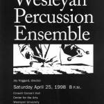 Wesleyan Percussion Ensemble '98