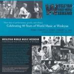 Wesleyan World Music Weekend '03