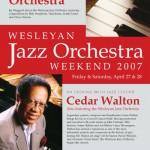 Wesleyan Jazz Orchestra Weekend '07